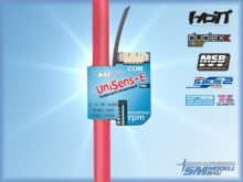 SM Modellbau UniSens-E 140A mit 4mm² Silikonkabel