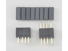 Deans micro Stecker/Buchsen (4pol) Set mit Schrumpfschlauch
