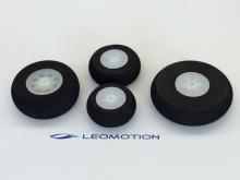 Moosgummi Leichtrad 76mm (2 Stück)