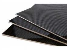Carbon-Balsa-Carbon Platte 6.0x160x290mm