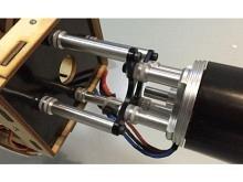 Motor-Verlängerung  ∅8mm Alu, M3,  Länge 42.5 bis 50.0mm