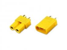 2.0mm Stecker/Buchsen Set vergoldet mit Verpolungsschutz (XT30, 1 Paar)