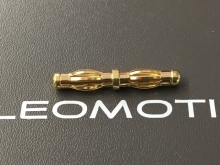 Übergangsstecker 4.0/4.0mm (male) vergoldet (1.Stk)