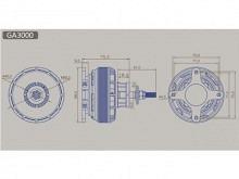 LEO 8010-0270 F3X (V2) / Dualsky GA3000.7 (V2)