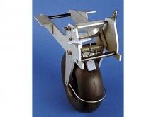 FEMA Einziehfahrwrk für Segler, 127mm Rad mit Bremse