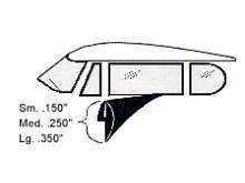 Fourmost Fenster-Profilgummi gross (8.9mm x 120cm)