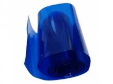 Schrumpfschlauch 2:1, transparent blau 95mm flach / Ø60mm (1 Laufmeter)
