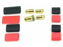 JETI 8mm Stecker vergoldet, mit Antiblitz Schaltung (JMS-ASC8)