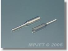 MP JET Gewindebuchse Alu für Carbon M2, Anschluss Ø5mm (2 Stück)