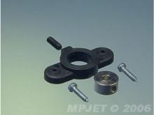 Radschuhbefestigung für Ø6mm Achse (2 Stk,, schwarz)