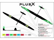 PLUS X/5 F5J  (3970mm) ab 1100g! mit IDS