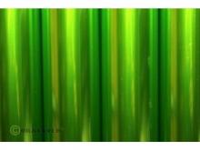 Oracover Bügelfolie, transparent hellgrün - Rolle 60cm x 2m