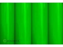 Oracover Bügelfolie, fluoreszierend grün - Rolle 60cm x 2m
