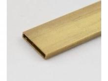 Messing Vierkantrohr 2.2/11mm, 1m, hart
