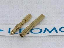2mm Stecker/Buchsen Set vergoldet (1 Paar)