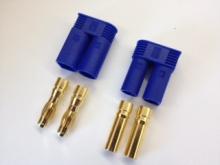 5mm Stecker/Buchsen Set vergoldet mit Verpolungsschutz (EC5)