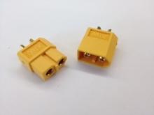 3.5mm Stecker/Buchsen Set vergoldet mit Verpolungsschutz (XT60)