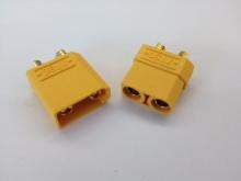 4.5mm Stecker/Buchsen Set vergoldet mit Verpolungsschutz (XT90)