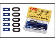 EMCOTEC MPX Gehäuse + Blende, schwarz, 4 St.