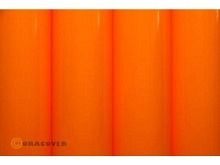 Oracover Bügelfolie, fluoreszierend signalorange - Rolle 60cm x 2m